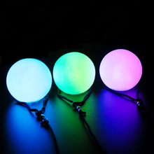 Belly Dance Balls RGB Glow LED POI Thrown Balls for Belly Dance Hand Props Stage Performance Accessories POI 2pieces = 1pair