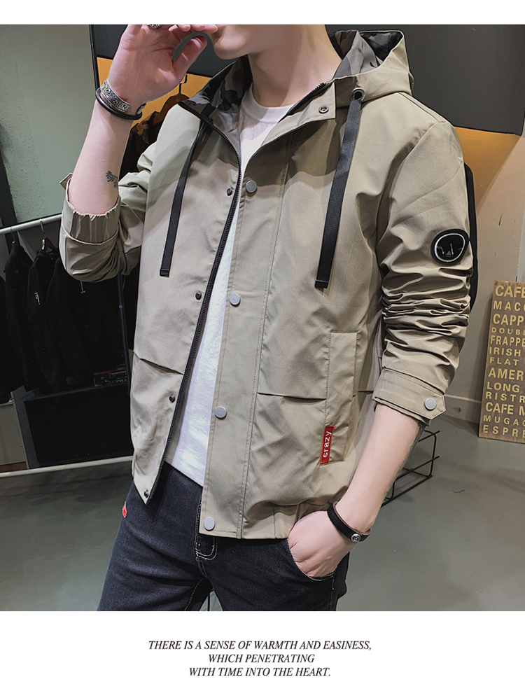 2019 Casaco Masculino Solid Bomber Jacket Men Autumn Spring Military Jackets Man Slim Fit Mens Coat Brand Clothes England Style 31