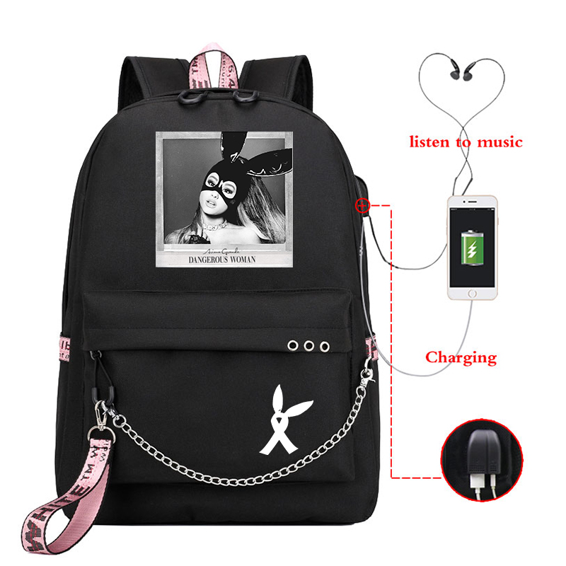 Mochila Ariana Grande Small Backpack Women Backpacks Cute School Bags For Teenage Girls Laptop Backpack Korean Travel Rucksack