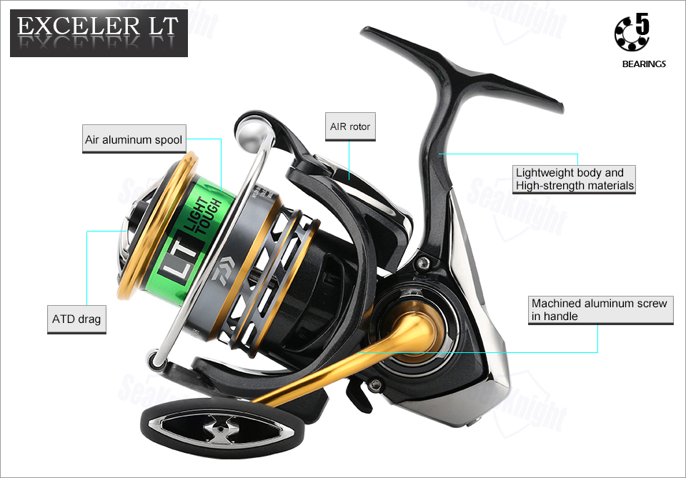 DAIWA EXCELER LT 1000DXH 6000DH Spinning Fishing Reel High Gear Ratio