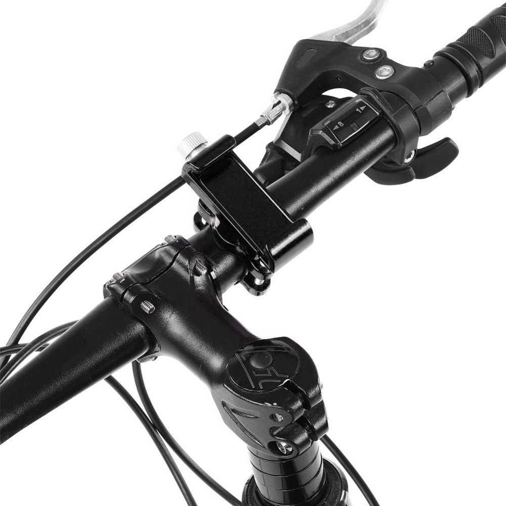 "Aluminium Alloy Bike Phone Holder 360 Degree Rotating 4-7"" Cell Phone Mount Holder Bicycle Bike Phone Handlebar Mount Bracket"