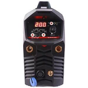 Image 2 - Профессиональный цифровой сварочный аппарат TIG 200A, Импульсный сварочный аппарат с горячим запуском, высокочастотное зажигание, антипригарная дуговая сила CE IGBT Инвертер MMA TIG сварочный аппарат
