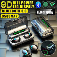 F5 PK S11 Kopfhörer 3500mAh Power Bank Bluetooth 5,0 Drahtlose TWS Sport Headset Musik Earbuds für iPhone iPad Xiaomi HUAWEI HTC