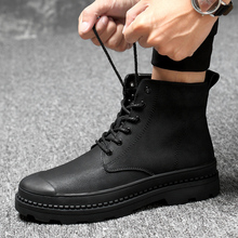 Male Leather Boots Size 38-46 Leather Men Winter Shoes Fashion Men Winter Boots Pointed Toe Mid-Calf Boots For Men *89550w hot sale men pointed toe platform brogues oxfords genuine leather winter plush ankle boots riding boots size 38 43