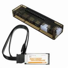 Placa de vídeo expressa, mini pci-e versão expresscard v8.0 exp gdc besta pcie pci-e pci computador portátil externo placa de vídeo independente dock