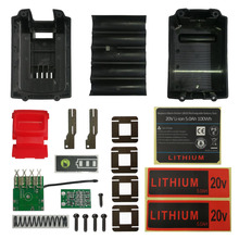 LB2X4020 Li ion Battery Plastic Case Charging Protection Circuit Board PCB Box Shell For Black Decker