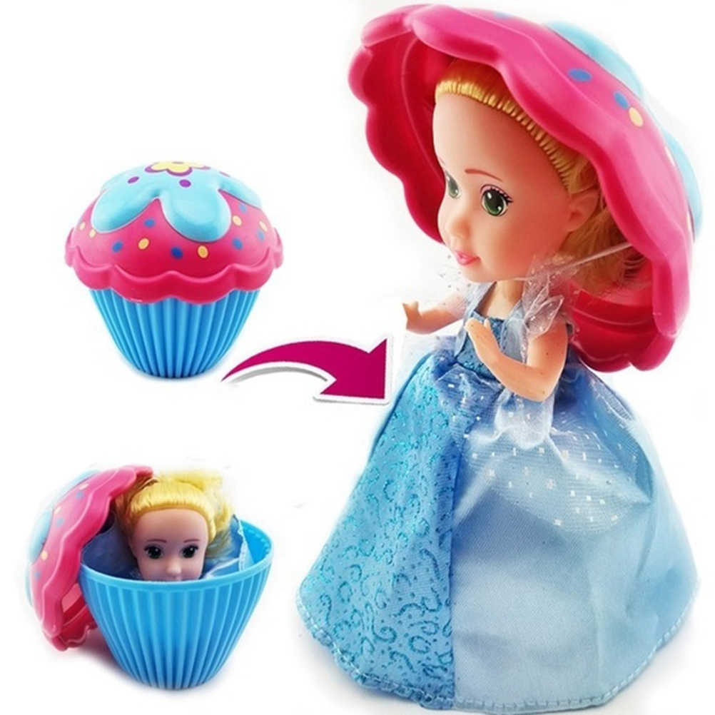 1pc Mini Beautiful Cake Doll Toy Surprise Cupcake Kids Doll Toys for Children Kids Transformed Scented Girls Funny Games Gifts