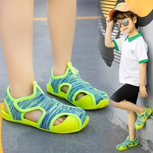 Детские сандалии для мальчиков; Сетчатые Дышащие Детские Спортивные Повседневные туфли; Пляжные сандалии для маленьких девочек; Летняя обувь на плоской подошве; TX106