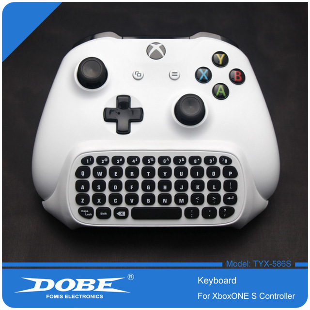 For Xbox One S Chatpad Mini Gaming Keyboard Wireless Chat Message KeyPad with Audio/Headset Jack for Xbox One Elite & Slim Gam 1
