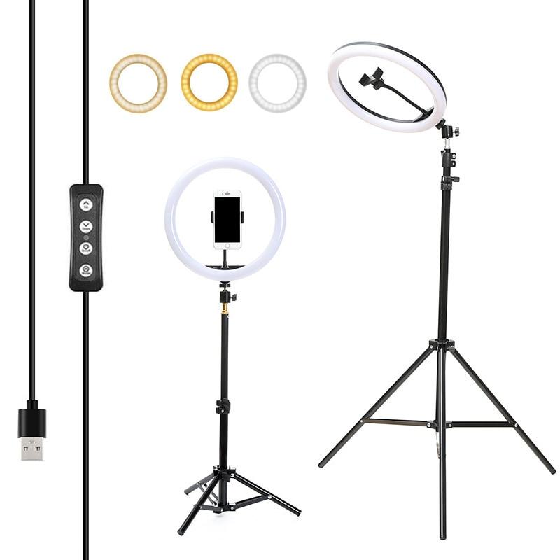 Tripods Ring-Lighting Selfie-Lamp Studio Photo-Photography 10inch Makeup LED 160cm 26cm