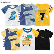 2020 Handsome baby short sleeves cotton clothes summer children's clothing boy teenage clothing boys clothes(China)