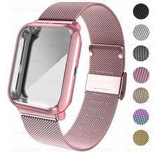 Wrist Strap For Amazfit Bip Case Strap Metal Bracelet For Huami Amazfit Bip Lite S U GTS 2 Strap Band Screen Protector Case Belt