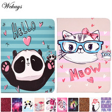 Untuk Apple iPad Air 2 Ipad 6 Kasus A1566 A1567 Lucu Kartun Kucing Kulit Sampul untuk iPad Air2 Air 2 6th Generasi Tablet Cover Case(China)