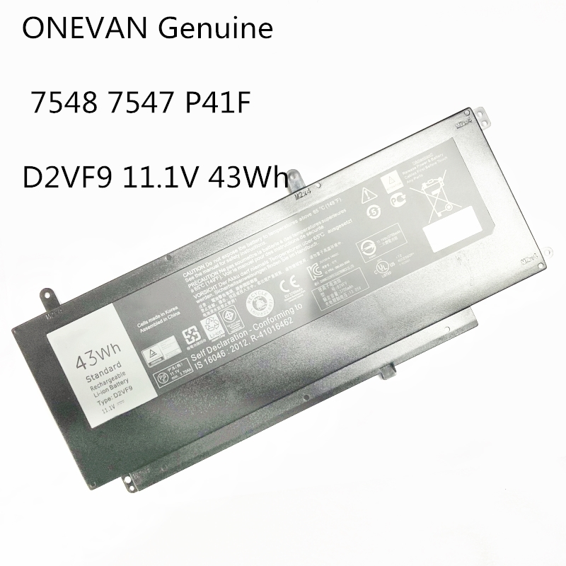 ONEVAN Genuine 43Wh D2VF9 Laptop battery For <font><b>Dell</b></font> Inspiron 15 7547 7548 For <font><b>Dell</b></font> Vostro <font><b>5459</b></font> P41F P68G PXR51 4P8PH image