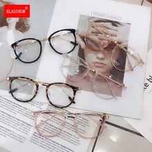 Lunettes yeux de chat unisexe, 1 pièce, monture Anti-lumière bleue, Vintage, verres optiques clairs, noir, rose