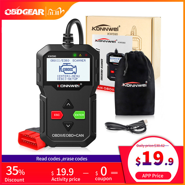 KONNWEI KW590 OBD2 Scanner Car Diagnostic Scanner for Auto OBD 2  Auto Diagnostic Tool Car Scanner Tools Better Than Elm327 Wifi