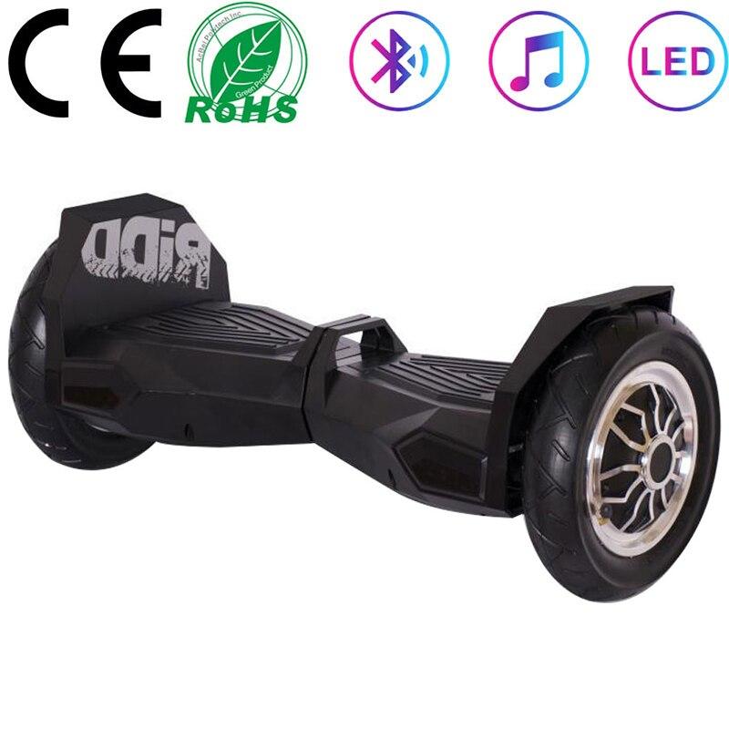 Hoverboard pas cher 10 pouces noir Scooters électriques spéciaux auto-équilibrage Scooters 2 roues Balance Skateboard + chargeur