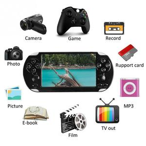 "Image 2 - כף יד קונסולת משחקי 4.2 ""5"" LCD X6 X9 בתוספת נדנדה כפולה 8G רטרו וידאו MP5 TF כרטיס עבור GBA/ 1000 משחקים"