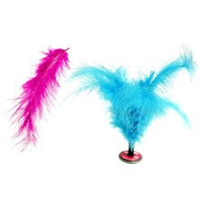200 Pcs Fluffy Marabou Feathers Party Wedding Trim Trimming Decor DIY 8-15 Cm, 100 Pcs Rose Red & 100 Pcs Lake Blue(China)