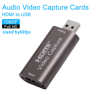 4K Video Capture Card USB 3.0 2.0 HDMI Video Grabber Record Box for PS4 Game DVD Camcorder Camera Recording Live Streaming image