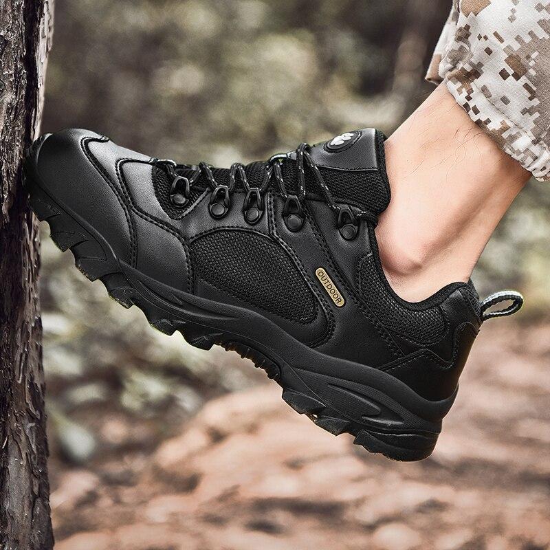 Nouveau bottes militaires grande taille 49 bottes d'hiver mode noir hommes chaussures décontractées en cuir haut en plein air antidérapant baskets chaussures * 506
