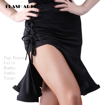 2020 Fashion Tap Dance Costume Women Stage Performance Plait Skirt Adult Female Latin Dance Skirt Rumba Samba Tango Sexy Skirt