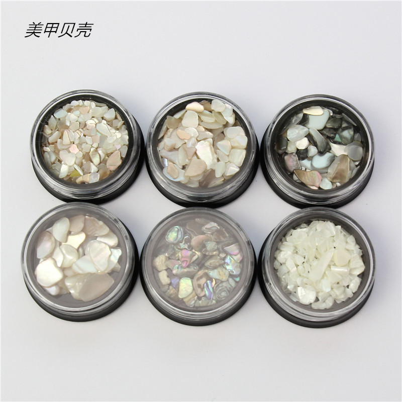 Nail Ornament Nail Sticker Thick Shell Fragment Shell Irregular Gravel Abalone Slices With Electroplated Gravel