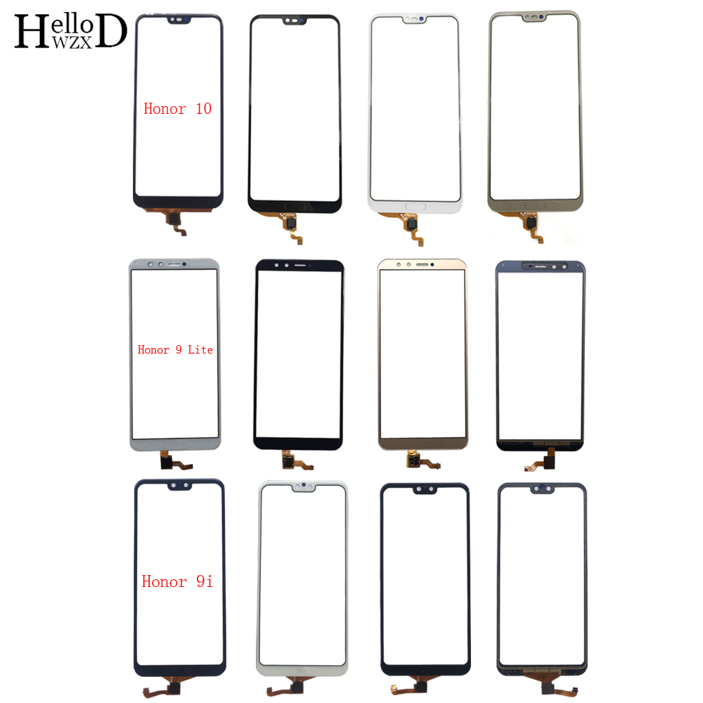 Touch Screen Panel For HuaWei Honor 9 Lite Honor 9i Honor 10 Digitizer Panel Touch Screen Front Glass TouchScreen 3M Glue Wipes