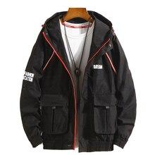Paragraph Lang Legendary Brand 2019 spring/autumn  fashion men hooded jacket polyester tooling multi-pocket bomber