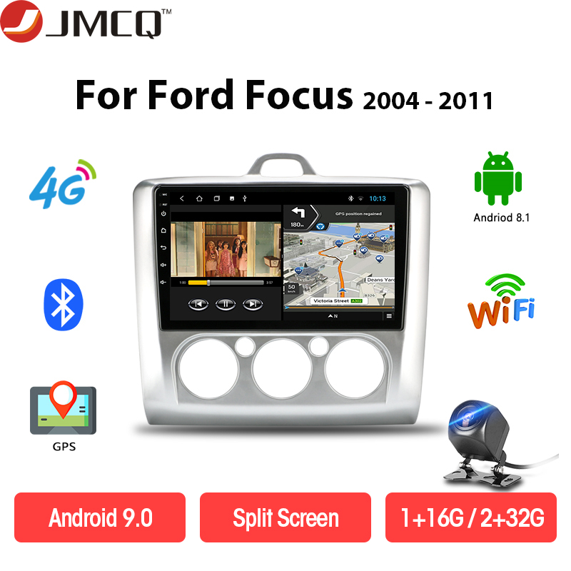 JMCQ Android DSP Car Radio <font><b>Multimedia</b></font> Video Player Navigation GPS For <font><b>ford</b></font> <font><b>focus</b></font> 2 3 <font><b>Mk2</b></font>/Mk3 Head Unit 4G net Split Screen image