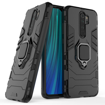 Luxury Armor Soft Shockproof Case On The for Redmi Note 9 8 8T 8Pro 7 6 5 4 4X Redmi 9 8 8A 7 7A Silicone Car Holder Ring Case image