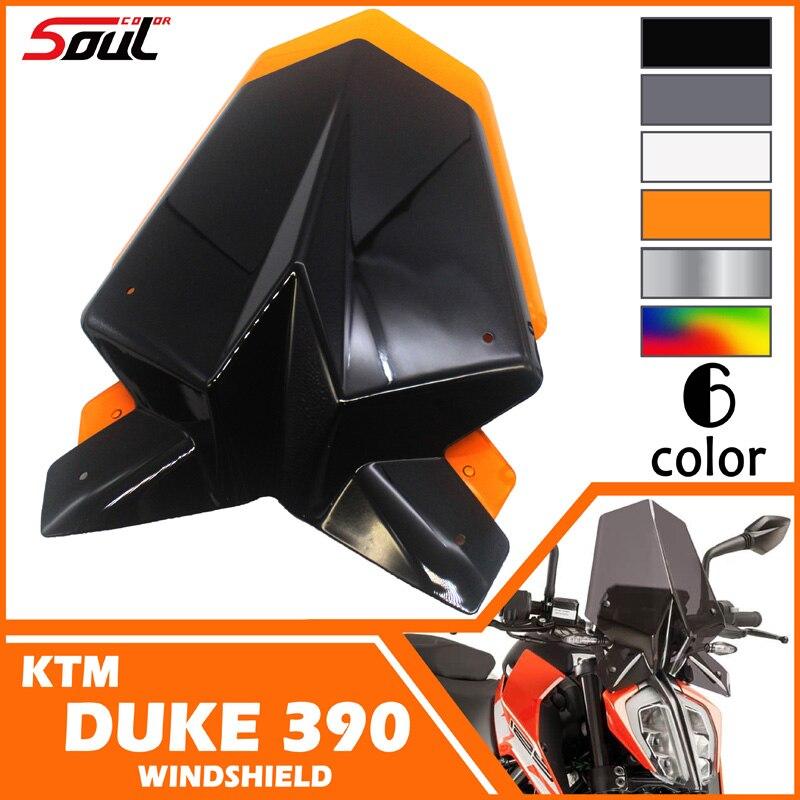 Motorcycle Sports Windshield WindScreen Visor Viser Fits For KTM Duke 125 390 2017 2018 Duke125 Duke390 17 18 Double Bubble