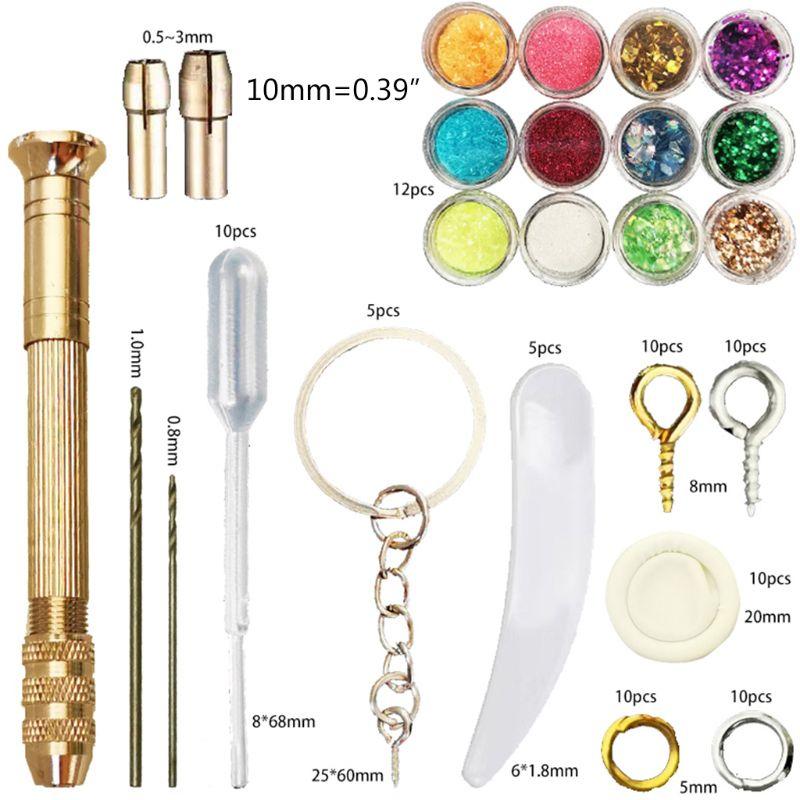 Купить с кэшбэком Fruit Candy Jewelry Silicone Resin Mold Metal Frame Kits Stud Earrings Casting Tools Set Pendant Making DIY Craft
