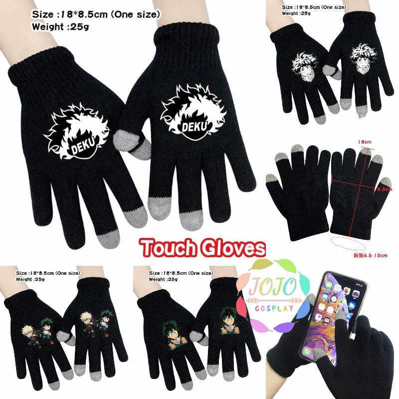 Boku Keine Mein Hero Wissenschaft Midoriya Izuku Deku Bakugou Knitting Touch Handschuhe Baumwolle Warme Vollfinger-handschuhe Cosplay Geschenk Winter