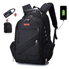 SIXRAYS брендовая дизайнерская мужская дорожная сумка, мужской швейцарский рюкзак, полиэфирные сумки, водонепроницаемый рюкзак с защитой от кражи, рюкзаки для ноутбука, мужские