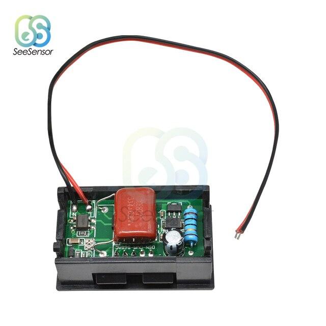 """Mini Digital Voltmeter AC 70-500V Panel Volt Voltage Meter Tester 0.56"""" Red LED Display AC 110V 220V"""