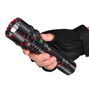 Image 5 - Cree xhp50.2 led el feneri usb şarj streç şok dayanıklı güçlü güç 18650 veya 26650 şarj edilebilir meşale Z901103
