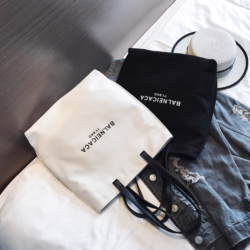 Raged Sheep Female Bag 2019 New Canvas Bag Chic Simple Versatile Bag Handbag Ladies Shoulder Bag Shopping Bag Reusable Totes|Shopping Bags| - AliExpress