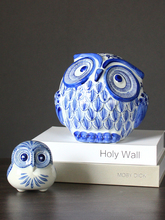 Retro Owl Ornaments Ceramic Crafts Creative Animal miniature figurines Fairy Garden accessories fengshui New home decoration недорого