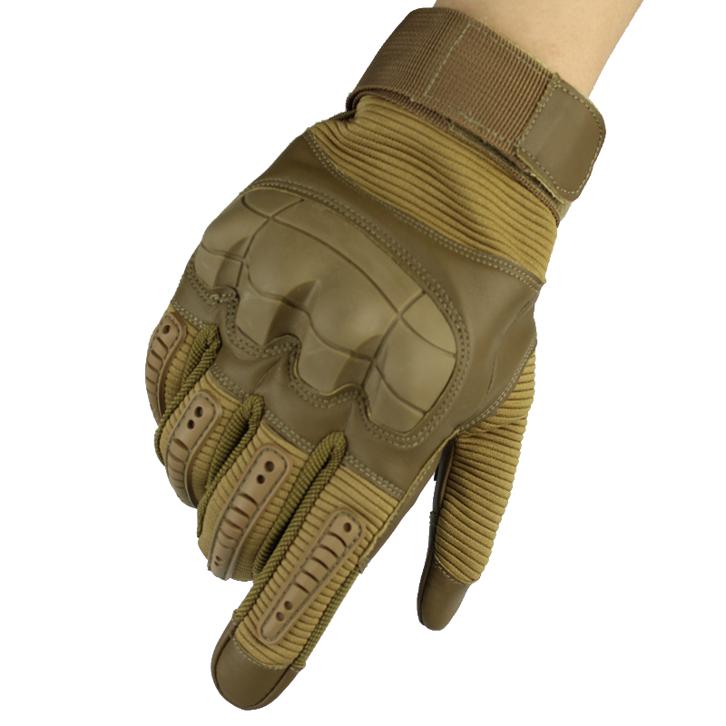 Touch Screen Military Tactical Rubber Hard Knuckle Full Finger Gloves Army Paintball Shooting Airsoft Bicycle PU Leather For Men