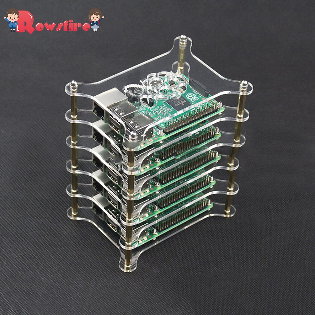 Acrylic Multilayer Cluster Servers Shell For Raspberry Pi 3B+/3B/2B - 6 Layers
