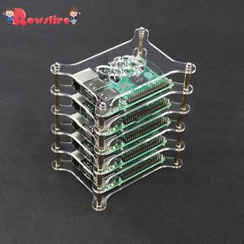 Akrylowe wielowarstwowe serwery klastra Shell dla warstw Raspberry Pi 3B + 3B 2B-6 tanie i dobre opinie Electric 14 Lat i up Transport 2497386 for Raspberry Pi Zero