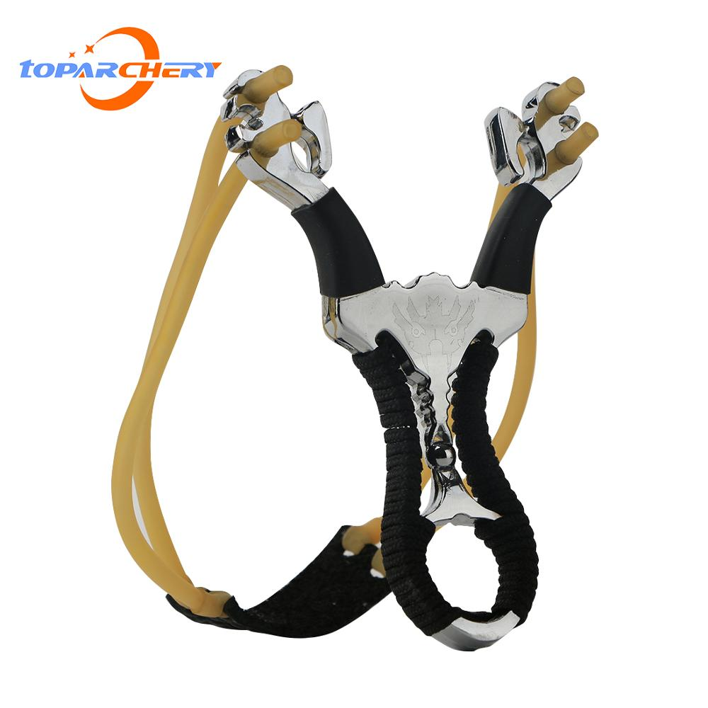 Professional Catapult Slingshot Outdoor Hunting Stainless Steel Slingshots With Rubber Bands And Steel Balls