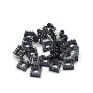 Image 3 - 20pcs DIP 8 Round Hole 8 Pins 2.54MM DIP DIP8 IC Sockets Adaptor Solder Type 8 PIN IC Connector