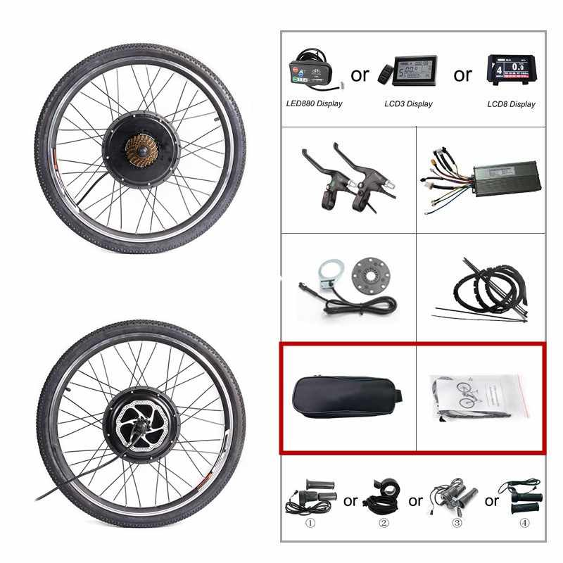 "48V 1000W 1500W Rear Wheel Motor Conversion Kit 20/"" 24/"" 26/"" 28/"" Disc Brake Set"