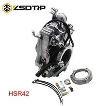 Zsdtrp carb carburador substituir para mikuni hsr tm42 42mm fácil kit carbs para harley mikuni evo evolução twin cam carby novo