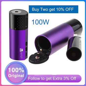 E cigarette mod 100W Vaporizer Vapor Kit mod Vaptio Vex 100W TC Box Mod fit 510 thread kit vsArmour Pro mod No 18650 Battery mod цена 2017