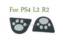 60 pièces Silicone chat patte L2 R2 boutons de déclenchement autocollant housse pour Sony Playstation Dualshock 4 PS4 Pro contrôleur mince manette