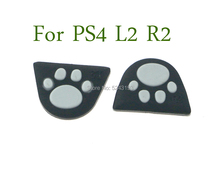 60pcs Silicone Kat Poot L2 R2 Trigger Knoppen Sticker Cover Case voor Sony Playstation Dualshock 4 PS4 Pro Slim controller Gamepad
