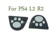 60pcs 실리콘 고양이 발 l2 r2 트리거 버튼 스티커 커버 케이스 소니 플레이 스테이션 dualshock 4 ps4 프로 슬림 컨트롤러 게임 패드